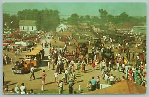 Mt Pleasant Iowa~Midwest Old Setters And Thresher~Vintage Postcard