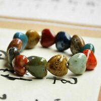 Women Mens Summer Ceramic Beads Bracelet Square Round Charm Hand Chain Jewelry