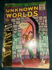 Unknown Worlds 37 Schaffenberger Cover Art silver age horror scifi acg lot movie