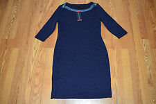 NWT Womens TOMMY HILFIGER Navy Boat Neck 3/4 Sleeve Dress XS X-Small