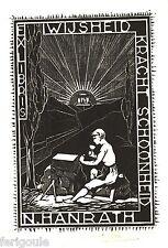 EX-LIBRIS de N. HANRATH par C. J. Alban. Pays-Bas.