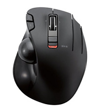 ELECOM 2.4GHz Wireless Thumb-Operated Trackball Mouse, 6-Button Function with