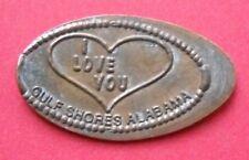 I Love You elongated penny Gulf Shores Alabama Usa cent souvenir coin