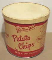 READING, PA VINTAGE PRICE & ENGLEHART POTATO CHIPS CONTAINER NET WT. 1 lb