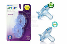 SFK Philips Avent - Soothie Pacifier, Blue, 0-3 Months, Pack of 2