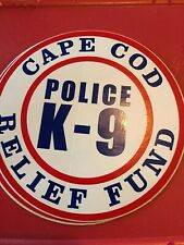 Cape Cod Massachusetts Police K-9 Relief Fund decal canine