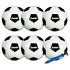 Franklin Sports 6 Pack Competition Size 5 Soccer Balls with Pump