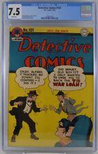 Detective Comics #101 CGC 7.5 White Pages Classic Batman 1945