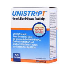 UniStrip 50 Test Strips for Use with Onetouch® Ultra® Meters Exp:01/19/2019