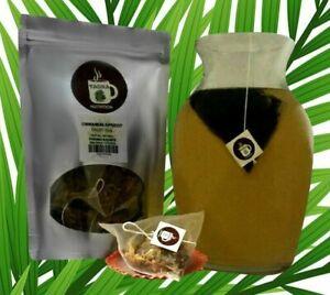 Cinnamon Apricot Tisane Tea Pyramid Sachets Herbal Loose Leaf Tea ICED or HOT