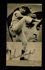 SANDY KOUFAX Signed Newspaper Photo AUTOGRAPHED