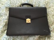 BAILEYS Brown Leather ATTACHE Business Briefcase Bag Commuter Work Bag-NEW