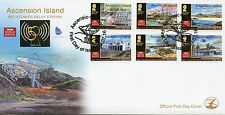 Ascension Island 2016 FDC BBC Atlantic Relay Station 50th 6v Set Cover Stamps