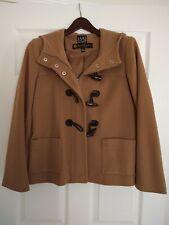 Vintage Saks Fifth Avenue Italian Wool Toggle Pea Coat Hood Sz 6