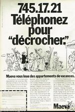 Publicité advertising 1981 Location de Vacances Maeva