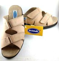 Women's Dr Scholls Slip On Dr Walk Sandal Shoes AUS 8, EUR 40, Leather Natural