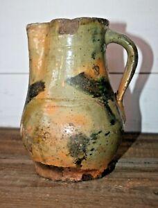 "ANTIQUE STONEWARE Pitcher Pottery Stoneware Southern Potters Glaze 8.5"" Jug"