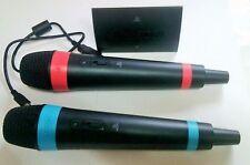 2 Original Sony Singstar Mikrofone Wireless für PS2/ PS3/ PS4 u. USB-Funkadapter