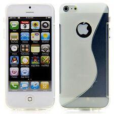 Apple iPhone 5 5S TPU Silikon Case Schutz Ring Hülle Etui S-Line Transparent