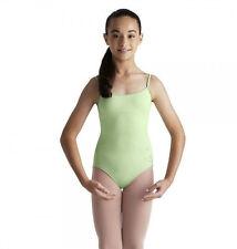 NWT Dance Mirella Green Cami Leotard Glittered Butterflies Med Child 8-10 M251C