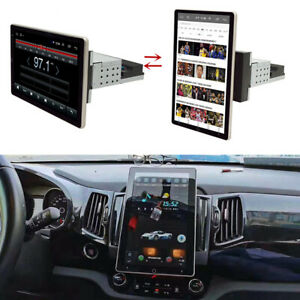 Rotatable Android 9.1 Car Stereo GPS Navigation Radio Player Single Din WIFI 10""