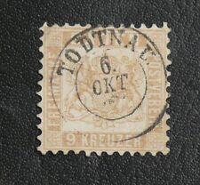 TIMBRES D'ALLEMAGNE : 1862/64 BADE - YVERT N° 19a Oblitéré - 9 K. BRUN PÂLE TBE