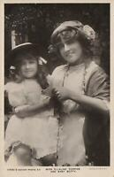 1910 VINTAGE Rotary PHOTO MISS ELLALINE TERRISS & BABY BETTY POSTCARD Gloucester