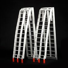 2x Folding Aluminium Loading Ramp Motor Truck ATV QUAD Bike Bobcat Excavator