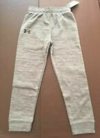 NWT Under Armour Boys Youth Athletic Pants Jogger Size 4 Pitch Gray Warm $30