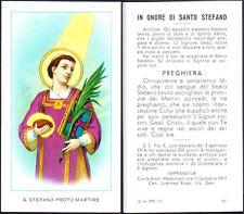 HOLY CARD SANTINO IMAGE PIEUSE - SANTO STEFANO PROTO MARTIRE - PREGHIERA