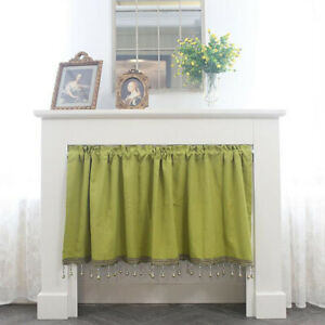 Window Kitchen Dining Cabinet Door Short Curtains Beads Tassel Treatments Drapes