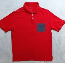 Kangol Mens Red Short Sleeve Polo Shirt W/Gray Contrast Pocket Size Medium EUC.
