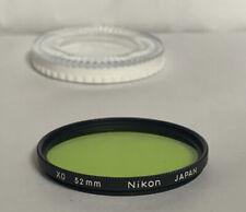 Vintage Nikon 52mm XO Green  Filter