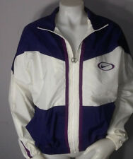 Vintage 1980's 1990's CIRCLE OVER Nike LOGO Windbreaker Zip Rare PURPLE & WHITE