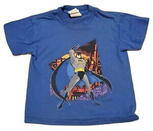 Vintage 90s 1993 Batman Single Stitch Graphic T Shirt Boys Youth size XS 4/5