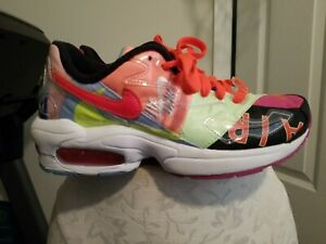🔥 Nike Atmos Air Max 2 Light QS Logos Multi Color Shoes Gym BV7406-001 Size 4