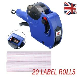 Price Tagging Gun Pricing Tag Retail Shop + 20 Label Rolls Stickers & Spare Ink