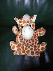 Doudou Histoire d'Ours Marionnette Girafe Beige Taches Rousses 100 % Neuf