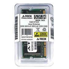 1GB SODIMM Acer Extensa 2000 2001LC 2001LM 2300 2350 2500 2900 Ram Memory