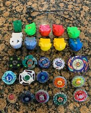 Lot of Vintage Metal Beyblades and Launchers Manta Diver Dranzer-G Dark Libra