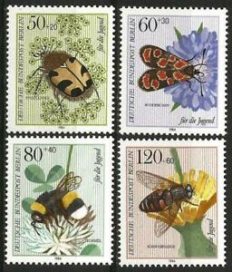 Germany Berlin 1984 MNH - Youth Welfare Pollinating Insects Bumblebee Bee Beetle