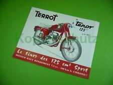 406KA2 Prospekt, dépliant (um 1960): TERROT tenor 125 cm3; motocyclette, France