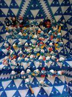 Vintage Lot Smurfs Peyo Schleich PVC Figures alot of Rare 1970's & 1980's