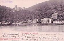 SELTEN Foto AK Prägekarte 1903@Koblenz Stolzenfels und Capellen@Kahn@doppellagig