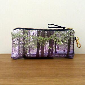 Glasses Case Pouch Faux Leather Handmade Flat Travel Bag Sunglasses Floral Vegan