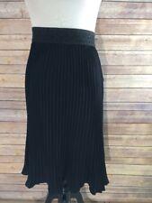 NWT Lularoe Jill Skirt Solid Black Accordion-pleated 2XL XXL