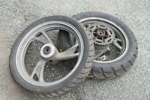 YAMAHA TDM850 TDM 850 PAIR OF FRONT AND REAR WHEELS + GOOD TYRES
