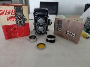 Vintage 1960 Rolleiflex 3.5f TLR Camera With Removable Focus Hoop DBP DBGM