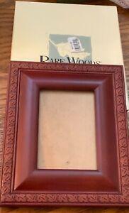 "Rare Woods 3.5""x5"" leaf bezel Picture Frame ""Burnes of Boston"" wood in box"