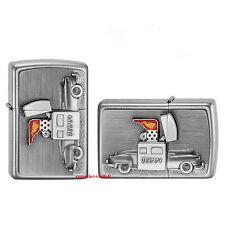 ZIPPO Feuerzeug ZIPPO CAR Emblem Zippo Satin Chrome Auto NEU OVP Sammlerstück!!